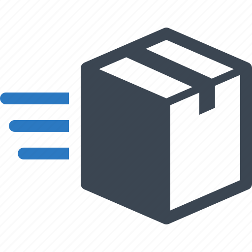 box, express delivery, fast shipping icon