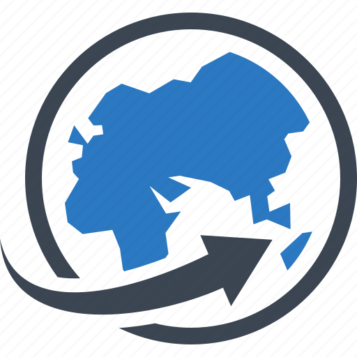 Global, shipping, worldwide delivery icon