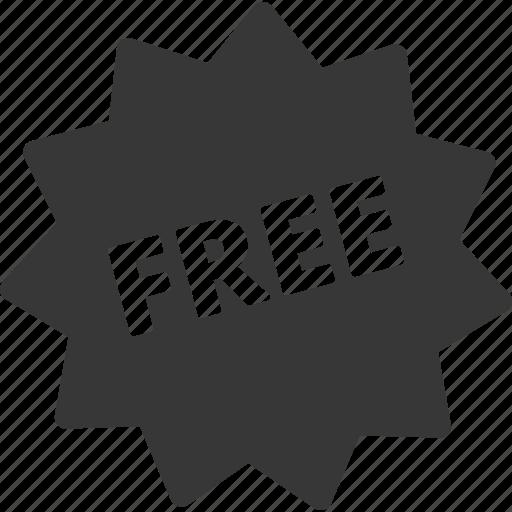 free, shopping, sticker icon