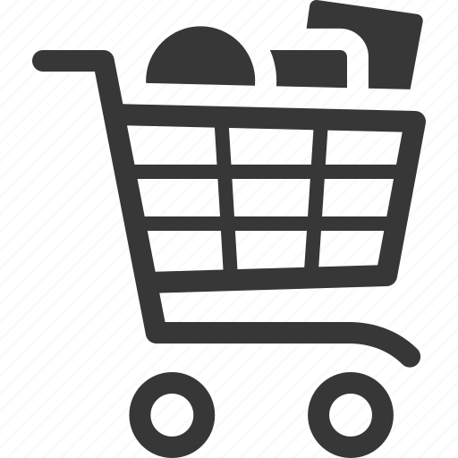 groceries, shopping cart icon