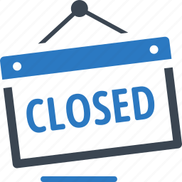 closed shop, closed sign, shopping icon
