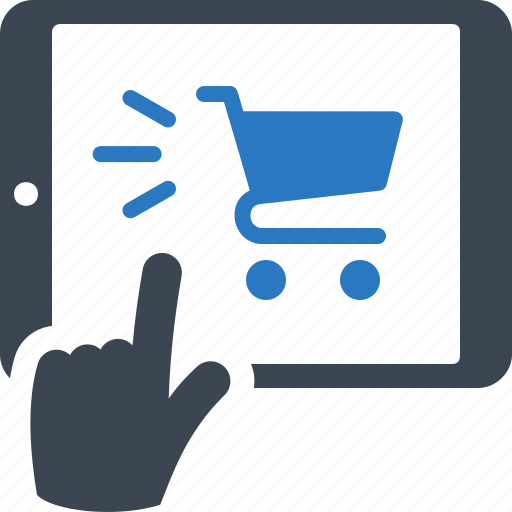 buy online, mobile shopping, tablet icon