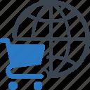 e-commerce, global shopping, shopping cart