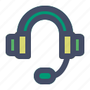 call, center, contact, headphone, headset, support icon