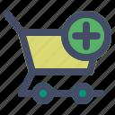 add, cart, ecommerce, market, shopping icon