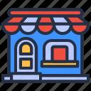 building, cart, ecommerce, home, property, shop, store