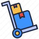 delivery, ecommerce, package, shop, store, troley icon