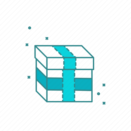 delivery, gift, package, shopping, wrap icon