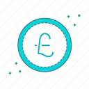 cash, coin, currency, pound icon