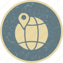 global, pin, world icon