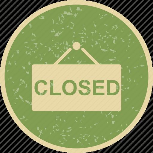 board, closed, shop, sign icon