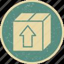 box, cargo box, parcel icon