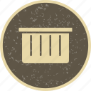 basket, dust bin, recyle bin icon