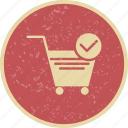 cart, online shopping, trolley, verified cart items icon