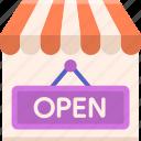 business, marketing, open, shop