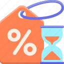 deals, discount, percentage, timed icon