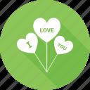 balloon, heart, heart sign, i love you, love logo