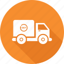 delivery, fast, nonstop, shipment, timely, timer, van icon icon