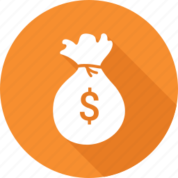 finance, investment, money bag icon