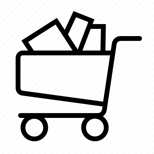 basket, business, cart, ecommerce, full, online, shopping icon