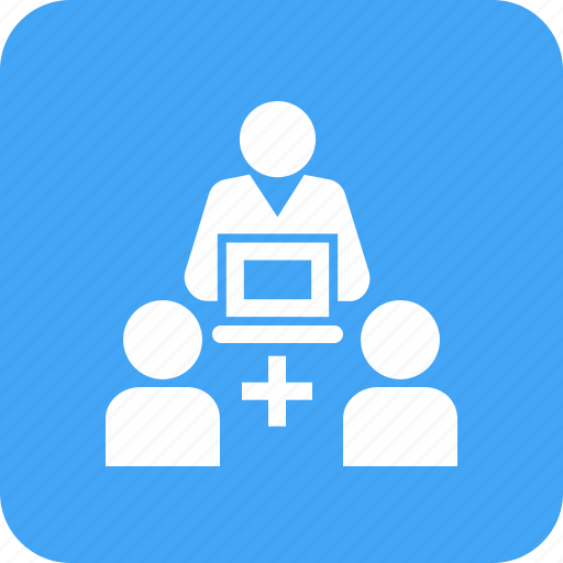 contact, customer, help, laptop, personnel, service, support icon
