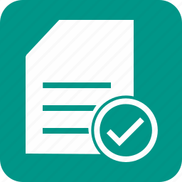 checklist, document, items, list, paper, task, tick icon