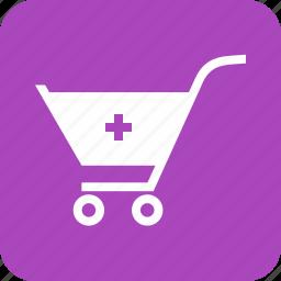 basket, cart, items, market, retail, shopping, trolley icon