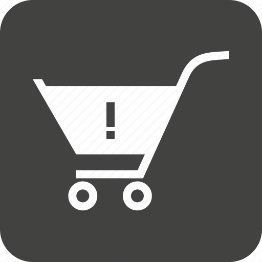 Alert, attention, cart, caution, danger, trolley, warning cart icon - Download on Iconfinder
