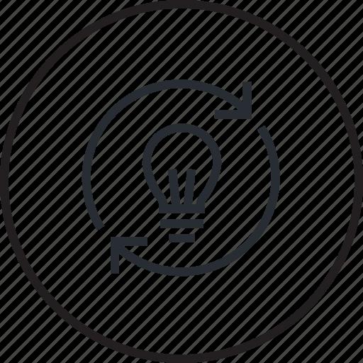 e-learning, education, idea, line, share icon