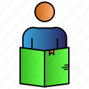 education, learning, self, smart, study icon