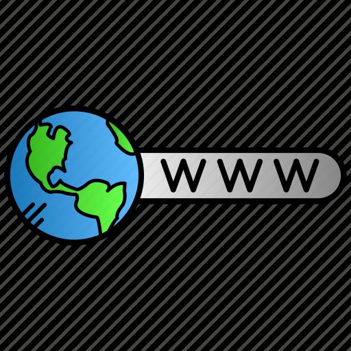 address, education, internet, learning, website icon
