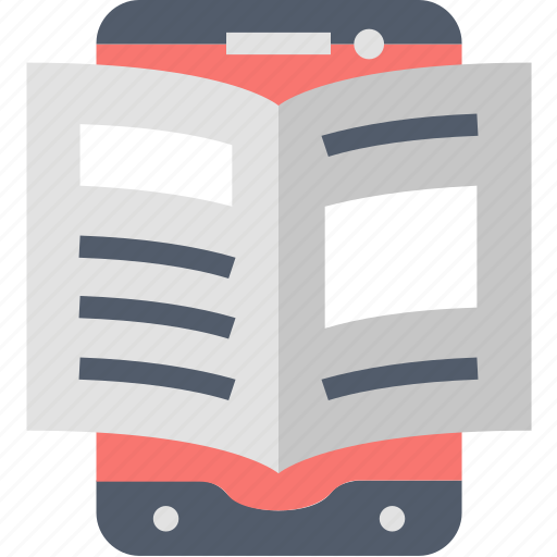 book, device, e-learning, education, reading, study, technology icon