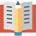 book, education, knowledge, learning, pencil, school, study icon