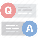 answer, education, interface, message, question icon
