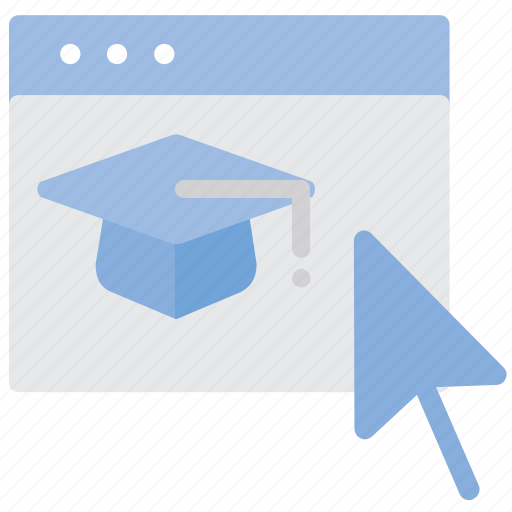 education, online, student hat, web icon