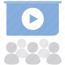 conference, education, lectern, lecture, people, presentation icon