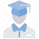 avatar, education, graduate, student, user icon