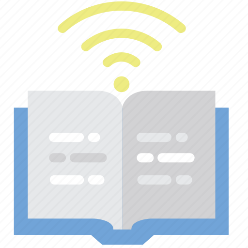 book, education, library, online, open book, study icon