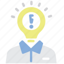 education, idea, invention, light bulb, student, technology icon