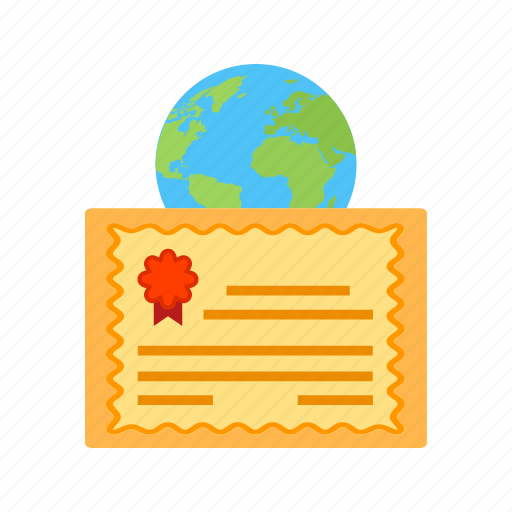 Certificate, education, global, laptop, success, university icon - Download on Iconfinder