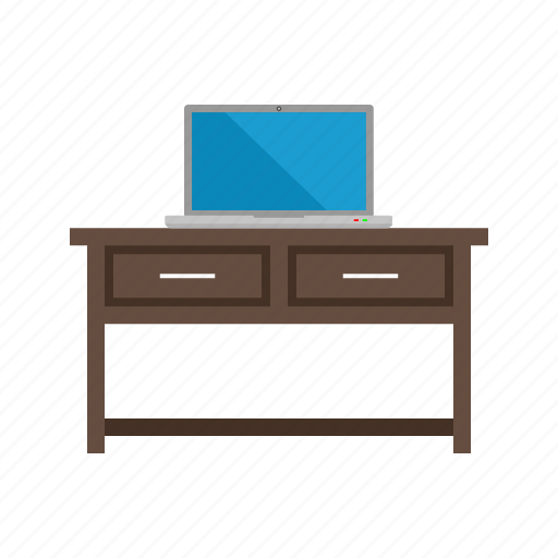 business, computer, desk, internet, laptop, screen, table icon