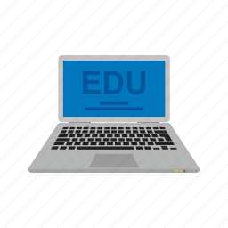 classroom, college, computer, education, laptop, learning, online icon