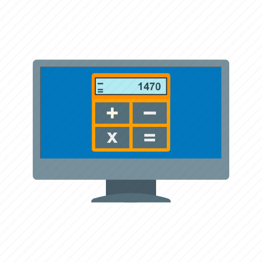 business, calculator, computer, invoice, laptop, money, online icon