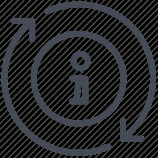 circle, circular, customer service, help, information, seo and web, shapes icon