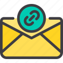 attach, communication, email, letter, mail icon