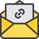 attach, communication, email, letter, mail, paper icon