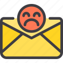 bad, communication, email, letter, mail icon