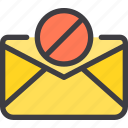 ban, communication, email, letter, mail icon
