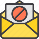 ban, communication, email, letter, mail, paper icon