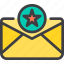 best, communication, email, letter, mail, star icon